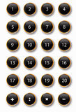 Black buttons. Of a calculator Stock Photography