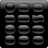 Black buttons royalty free stock photos