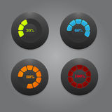 Black Buttons With Color Bars Royalty Free Stock Images