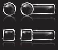 Black buttons Royalty Free Stock Photo