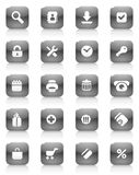 Black buttons for internet and shopping Royalty Free Stock Photos