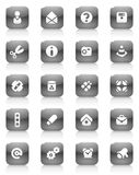 Black buttons miscellaneous Stock Photo