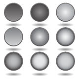Black buttons Royalty Free Stock Photography