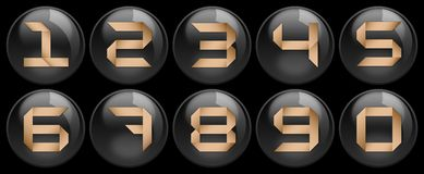 Black buttons and numbers on it Stock Image
