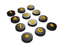 Black Buttons of phone close-up Stock Photo