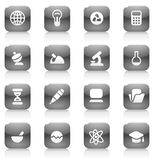 Black buttons for science Stock Images