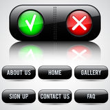 Black buttons set Royalty Free Stock Photo