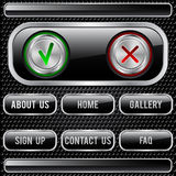 Black buttons set Royalty Free Stock Photos