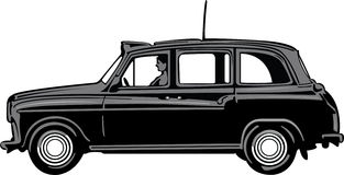 Black Cab Royalty Free Stock Photos