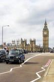 Black Cab and Big Ben Stock Photos