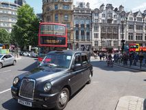Black cab taxi in London. LONDON, UK - CIRCA JUNE 2018: Black cab taxi stock images
