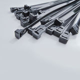 Black cable ties Royalty Free Stock Images