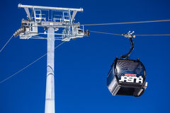 Black cableway Royalty Free Stock Photography