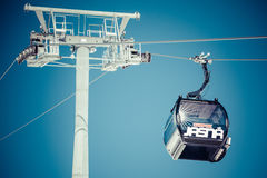 Black cableway at Low Tatras, Slovakia Royalty Free Stock Photo