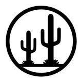 Cactus Icon. Black Cactus Icon 3D Rendering Royalty Free Stock Photos
