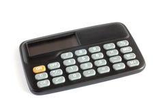 Black calculator. On white background Stock Photo