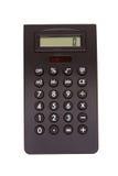 Black calculator. Showing number zero Royalty Free Stock Image
