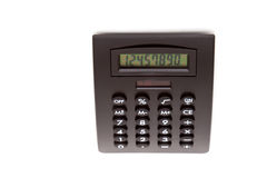 Black calculator. On white background Royalty Free Stock Photos