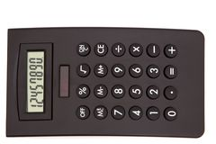 Black calculator Stock Image