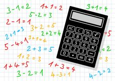 Black calculator Stock Photography