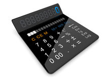 Black calculator 3D Royalty Free Stock Photography
