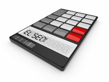 Black calculator 3D. Isolated Royalty Free Stock Images