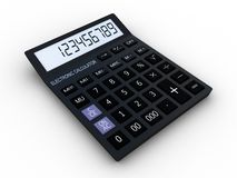 Black calculator 3D Stock Photo