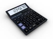 Black calculator 3D. Mathematics object.  on white background Stock Photo