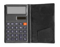 Black calculator isolated Stock Photos
