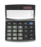 Black calculator isolated Stock Images
