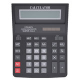 Black calculator Stock Photo