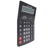 Black calculator. Isolated render on a white background Royalty Free Stock Images