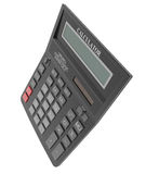 Black calculator. Isolated render on a white background Royalty Free Stock Image