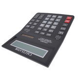 Black calculator. Isolated render on a white background Stock Photography