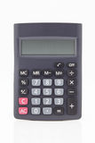 Black calculator. Isolated on white background stock photography