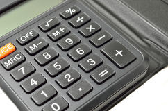 Black calculator Stock Images