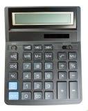 Black calculator isolated on white background Stock Photos