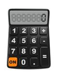 Black Calculator. Mathematics object. Royalty Free Stock Photography