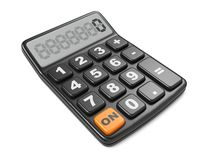 Black Calculator. Mathematics object. Black calculator 3D. Isolated on White Background Royalty Free Stock Images