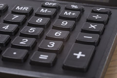 Black calculator number keypad close up Stock Photography