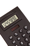 Black calculator for tax time Royalty Free Stock Photo