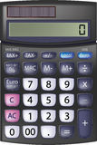 Black Calculator. Top View of Black Calculator. Illustration on white Royalty Free Stock Photo