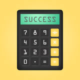 Black calculator with word Succes on display Royalty Free Stock Photography