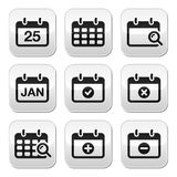 Calendar date  buttons set Stock Photo