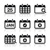 Calendar date  icons set Stock Image