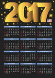 2017 black calendar USA festive days Stock Photos
