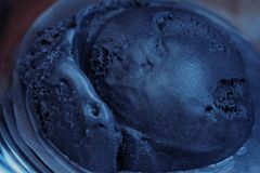 Black California ice cream with prunes. View stock images