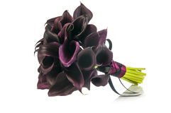 Black Calla Lilies wedding bouquet Stock Photo