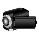 Black camcorder icon image. Illustraction design Stock Photo
