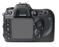 Black camera back Stock Image